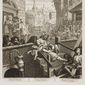 """Gin Lane"" by British printmaker, Bishop William Hogarth, reflects England's troubled society in the late 18th century."