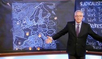 Glenn Beck explaining that Europe is on fire politically and how this is coming to the U. S.