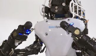 The final round of the DARPA Robotics Challenge in Pomona, California on May 25, 2015 involves 25 teams vying for a $2 million prize. (Image: YouTube, DARPA TV) ** FILE **