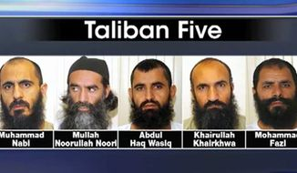 "A source told Fox News June 5, 2015 that the Obama administration tried to ""flip"" members of the ""Taliban Five"" while they were in U.S. custody. White House Press Secretary Josh Earnest said he could not speak on the matter due to intelligence reasons. (Image: Fox News screenshot) ** FILE **"