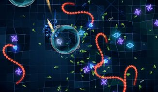 Action gets chaotic in the iPad shooter Geometry Wars 3: Dimensions.