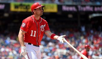 The Nationals' Ryan Zimmerman has one hit in his past 25 appearances, but he has shown no signs of concerns. With 10 years of major-league experience, Zimmerman has been here before. He knows slumps like this will pass and his averages will return. (Associated Press)