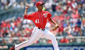 Nationals pitcher Joe Ross made his major-league debut Saturday. He could be part of the 2016 starting rotation. (Associated Press)