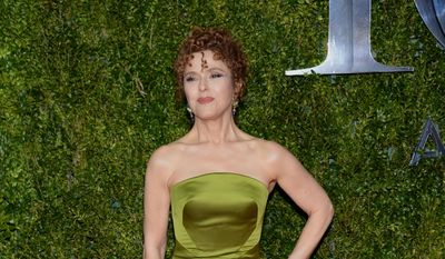 Bernadette Peters arrives at the 69th annual Tony Awards at Radio City Music Hall on Sunday, June 7, 2015, in New York. (Photo by Evan Agostini/Invision/AP)