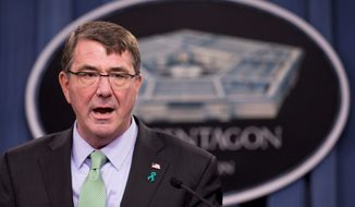 Defense Secretary Ashton Carter (Associated Press) **FILE**