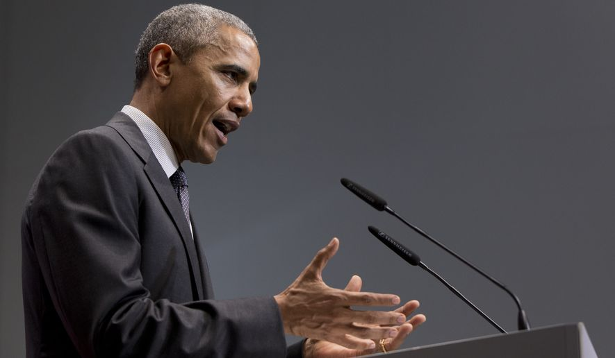 """""""There is no reason why the existing exchanges should be overturned through a court case. It has been well-documented that those who passed this legislation never intended for folks who were going through the federal exchange not to have their citizens get subsidies,"""" President Obama said. (Associated Press)"""