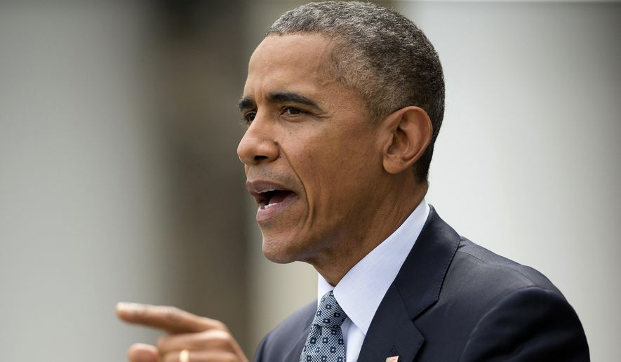 In this April 2, 2015, file photo, President Obama speaks the Rose Garden of the White House in Washington about the breakthrough in the Iranian nuclear talks. (AP Photo/Pablo Martinez Monsivais, File)