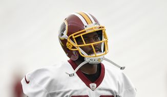 Washington Redskins wide receiver Jamison Crowder (80) jogs during an NFL football organized team activity, Tuesday, June 9, 2015, in Ashburn, Va. (AP Photo/Nick Wass)