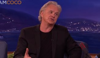 """Tim Robbins says he's tired of receiving countless phone calls from reporters and fans every time there's a prison break that bears any resemblance to the 1994 film """"Shawshank Redemption."""" (teamcoco.com)"""