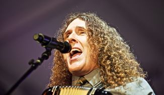 "Comedic star ""Weird Al"" Yankovic will perform at Wolf Trap in Virginia Friday, and at Baltimore's Pier Six on Saturday as part of his most recent concert tour. (Associated Press)"