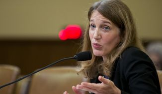 Health and Human Services Secretary Sylvia Burwell testifies on Capitol Hill in Washington, Wednesday, June 10, 2015, before the House Ways and Means Committee hearing on President Barack Obama's health care law. Burwell said it will be up to Congress and the states to decide what to do should the Supreme Court annul federal subsidies that are a cornerstone of President Barack Obama's health care law.  (AP Photo/Manuel Balce Ceneta)