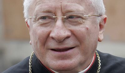 Italian Cardinal Ennio Antonelli, at the Vatican, Friday, Nov. 23, 2007. (AP Photo/Plinio Lepri)