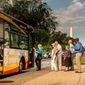 D.C. Circulator riders are allowed to re-board the bus for free, within two hours from the start of their first trip. (Courtesy of the D.C. Circulator site: Photo by Sam Kittner)