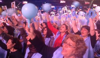 Tens of thousands attend the National Council of Resistance of Iran rally in France on June 13, 2015. U.S. lawmakers joined Iranian dissidents calling for regime change in Iran. (Image: Karine G. Barzegar) ** FILE **