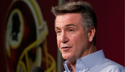 Redskins president Bruce Allen helped lobby for the deal that led to the training camp facility in Richmond, and could help influence a new stadium built in Virginia. (Associated Press)