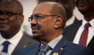 Lt. Gen. Omar Bashir, president of Sudan, has been banned from leaving South Africa because of an international order for his arrest. (Associated Press)