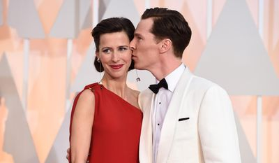 In this Feb. 22, 2015, file photo, Sophie Hunter, left, and Benedict Cumberbatch arrive at the Oscars in Los Angeles. (Photo by Jordan Strauss/Invision/AP, File)
