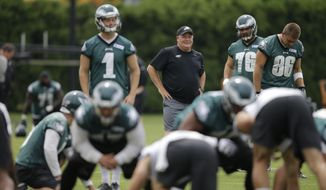 Philadelphia Eagles head coach Chip Kelly during NFL football minicamp, Tuesday, June 16, 2015, in Philadelphia. (AP Photo/Matt Rourke)