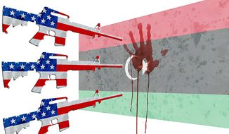 What if American Weapons Killed in Benghazi Illustration by Greg Groesch/The Washington Times