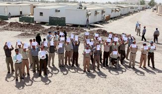 MEK residents at Camp Liberty in Iraq