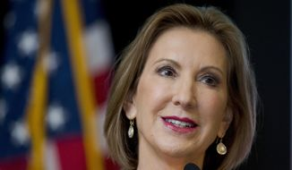 Republican presidential candidate Carly Fiorina speaks at the Northeast Republican Leadership Conference in Philadelphia, Friday, June 19, 2015. (AP Photo/Matt Rourke)