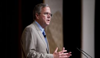 Republican presidential candidate, former Florida Gov. Jeb. Bush speaks at the Road to Majority 2015 convention in Washington, Friday, June 19, 2015. (AP Photo/Pablo Martinez Monsivais) ** FILE **