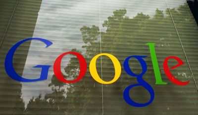 This Thursday, April 12, 2012, file photo shows a Google logo at the company's headquarters in Mountain View, Calif. (AP Photo/Paul Sakuma, File)