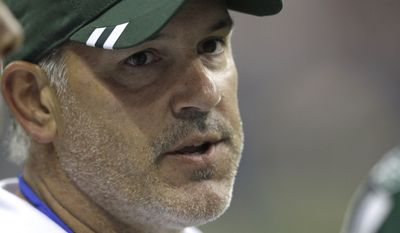 Matt Cavanaugh, now the quarterbacks coach of the Washington Redskins, is photographed during the third quarter of an NFL preseason football game Monday, Aug. 15, 2011, between the New York Jets and Houston Texans. (AP Photo/David J. Phillip)