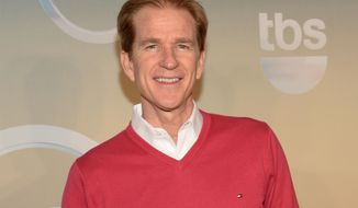 In this May 14, 2014, file photo, Matthew Modine poses backstage at the TNT and TBS Network 2014 Upfront Presentations at Madison Square Garden, in New York. (Photo by Evan Agostini/Invision/AP, File) **FILE**