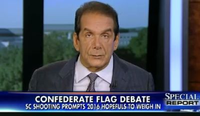 "Charles Krauthammer says the national hysteria over the Confederate flag shows the ""standard liberal impulse"" to take action and do something, ""even if the 'something' is entirely irrelevant."" (Fox News)"