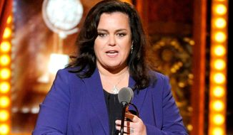 Rosie O'Donnell accepts the Isabelle Stevenson Award on stage at the 68th annual Tony Awards in New York in this June 8, 2014, file photo. (Photo by Evan Agostini/Invision/AP, File)