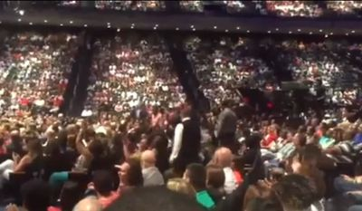 Six people were arrested after heckling Houston megachurch pastor and televangelist Joel Osteen while he was giving his sermon Sunday morning, police said. (ABC 13)