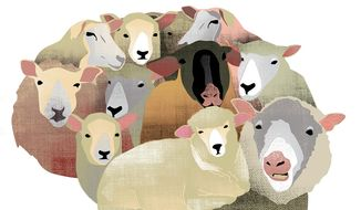 Illustration on independence of mind in the current society by Linas Garsys/The Washington Times