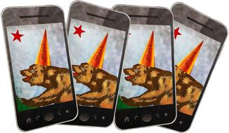 Smartphone Dunce Illustration by Greg Groesch/The Washington Times