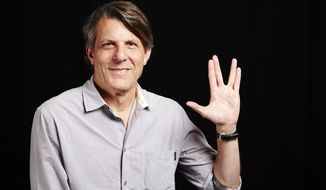"In this June 29, 2015 photo, lawyer-turned-director Adam Nimoy, son of the late Star Trek actor Leonard Nimoy,  poses for a portrait in New York to promote his documentary about his father, ""For the Love of Spock."" (Photo by Dan Hallman/Invision/AP)"