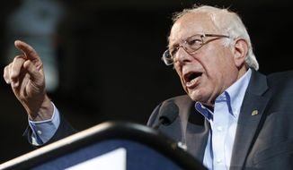 Democratic presidential candidate Sen. Bernie Sanders, I-Vt., speaks at a campaign rally, Monday, July 6, 2015, in Portland, Maine. (AP Photo/Robert F. Bukaty) ** FILE **