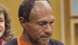 Juan Francisco Lopez-Sanchez walks into the court for his arraignment at the Hall of Justice on Tuesday in San Francisco. Prosecutors have charged the Mexican immigrant with murder in the waterfront shooting death of 32-year-old Kathryn Steinle. (Associated Press)
