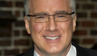 "In this Oct. 24, 2011, file photo, Keith Olbermann leaves a taping of ""Late Show with David Letterman"" in New York.Olbermann's show on ESPN will end sometime this month. ""Olbermann"" premiered in August 2013 when he returned to the network. (AP Photo/Charles Sykes, File)"