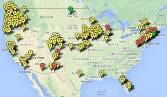 Map of sanctuary cities. (Center for Immigration Studies/www.cis.org)