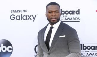 In this May 17, 2015, file photo, 50 Cent arrives at the Billboard Music Awards at the MGM Grand Garden Arena in Las Vegas. (Photo by Eric Jamison/Invision/AP, File)
