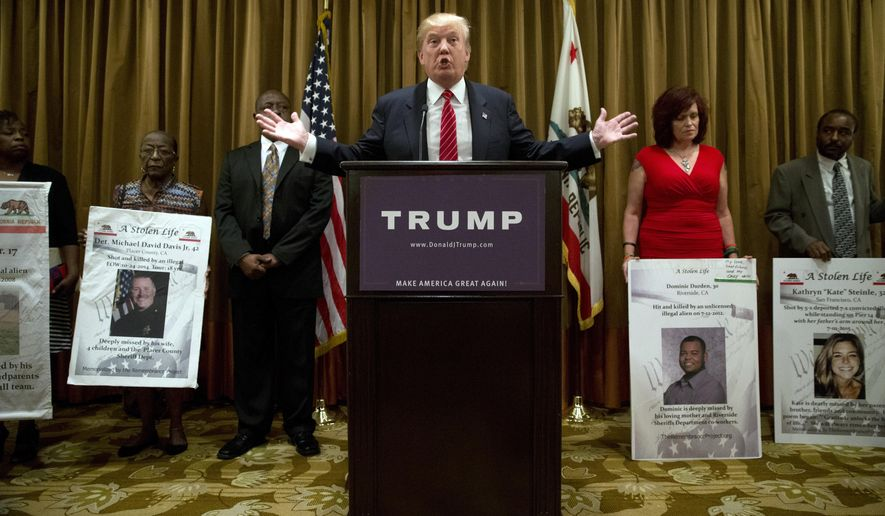Image result for trump with victims of illegal immigrants