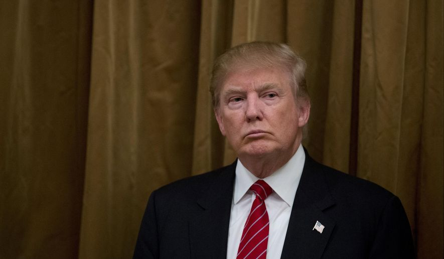 Republican presidential candidate Donald Trump waits to speak during a news conference, Friday, July 10, 2015, in Beverly Hills, Calif. (AP Photo/Jae C. Hong) ** FILE **