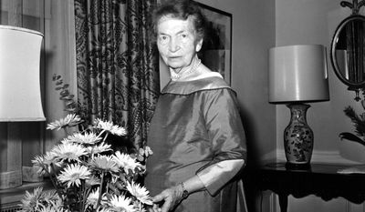 Margaret Sanger, founder of Planned Parenthood and advocate of birth control, is shown at New York's Waldorf Astoria hotel, May 10, 1961. (AP Photo)