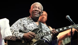B.B. King died in hospice care at home in Las Vegas at age 89. (Associated Press)