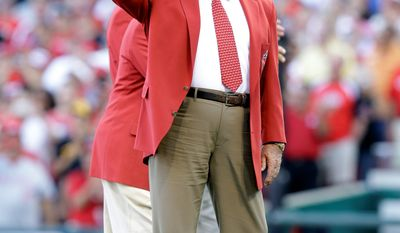 Pete Rose is introduced before the MLB All-Star baseball game, Tuesday, July 14, 2015, in Cincinnati. (AP Photo/John Minchillo)
