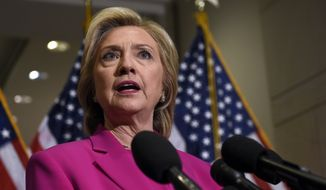 "In her highly touted economic policy speech on wage inequality and job creation Monday in New York, Hillary Rodham Clinton unexpectedly took what was seen as a sideswipe at Uber, Airbnb and other pioneers of the ""sharing economy,"" saying the model left too many workers reliant on short-term contracts and freelance gigs without the benefits and protections of traditional jobs. (Associated Press)"