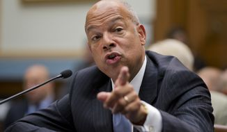 Homeland Security Secretary Jeh Johnson declined to criticize sanctuary cities and told Congress not to try to pass laws forcing cooperation, saying it could conflict with the Constitution, and it won't win over the hearts of reluctant communities. (Associated Press)