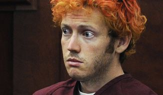 """James Holmes has been found guilty on all 12 first-degree murder counts in the 2012 shootings that killed 12 and wounded 70 at a midnight premiere of the Batman movie """"The Dark Night Rises"""" at a theater in Aurora, Colorado. (Associated Press)"""