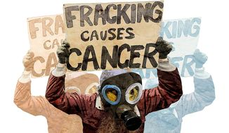 Fracking Protest Illustration by Greg Groesch/The Washington Times