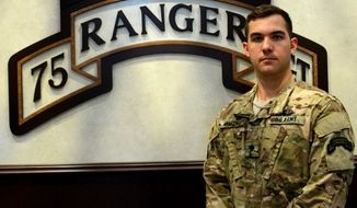 Army Spc. Luke Smith, 75th Ranger Regiment. (Image: U.S. Army photo by Sgt. 1st Class Michael R. Noggle) ** FILE **